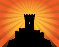 Castle abstract background. Color illustration stock illustration