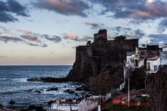 Castle in Aci Castello Royalty Free Stock Photo