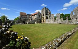 The remains of Castle Acre Priory Norfolk. CASTLE ACRE, NORFOLK, ENGLAND - MAY 09, 2018: The remains of Castle Acre Priory Norfolk royalty free stock photography