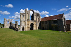Castle Acre Priory - West Door & Abbott's House Royalty Free Stock Photography