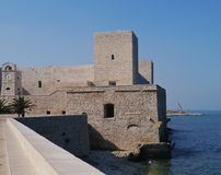 Castle at the Adriatic sea of Italy Royalty Free Stock Photography