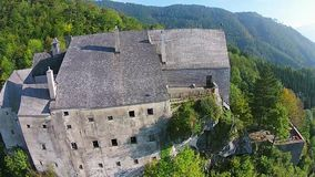 Castle aerial view stock video footage