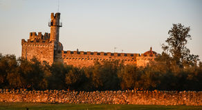 Castle at Aguijuelas, Caceres, Estremadura, Spain Royalty Free Stock Image