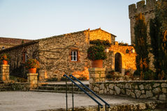 Castle at Aguijuelas, Caceres, Estremadura, Spain Stock Image