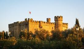 Castle at Aguijuelas, Caceres, Estremadura, Spain Stock Photo