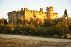 Castle at Aguijuelas, Caceres, Estremadura, Spain Royalty Free Stock Photography