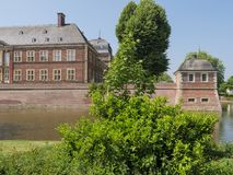 The castle of ahaus in germany. The Castle of ahaus in the german muensterland Stock Photo