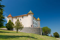 Castle in Aiguines Royalty Free Stock Image