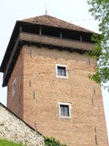 Castle in the air. Tower,castle Dubovac,Croatia Stock Photo