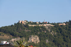 The castle in Alanya Royalty Free Stock Photography