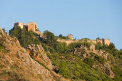 The castle in Alanya Stock Image