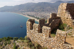 Castle in Alanya, Turkey Royalty Free Stock Photos