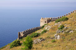 Castle in Alanya, Turkey Royalty Free Stock Image