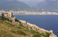Castle in Alanya, Turkey Royalty Free Stock Images
