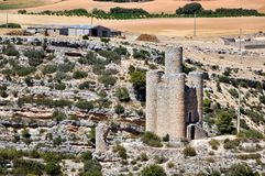Castle of Alarcon in Spain Stock Photos