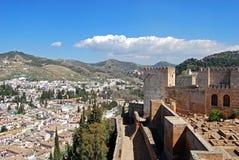 Castle and Albaicin district, Granada. Stock Image