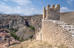 Castle of Albarracin Stock Photography
