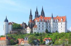 Castle Albrechtsburg Meissen Stock Photo