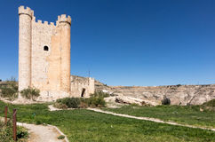 Castle of Alcala del Jucar in Castilla-La Mancha, Spain Royalty Free Stock Images