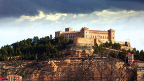 Castle of Alcaniz in winter Royalty Free Stock Images