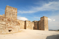 Castle (Alcazaba) in Trujillo Stock Photos