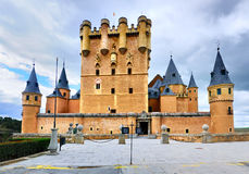 Alazar of Segovia, Spain. The Castle or Alcazar of Segovia, a medieval town in Spain to the north of Madrid royalty free stock image