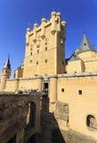 Castle of Alcazar in Segovia Spain stock images