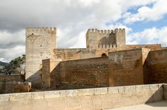 Castle in the Alhambra in Granada Royalty Free Stock Images