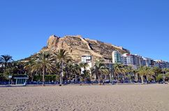 Castle of Alicante Stock Photography
