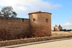 Castle in Almenar village, Soria Royalty Free Stock Photo