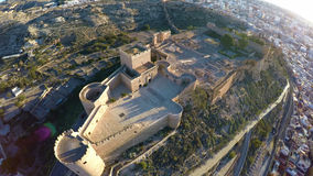 Castle in Almeria, Spain - Aerial View. Royalty Free Stock Image