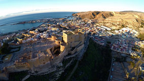 Castle in Almeria, Spain - Aerial View. Royalty Free Stock Images