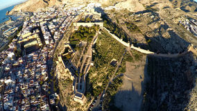 Castle in Almeria, Spain - Aerial View. Stock Photo