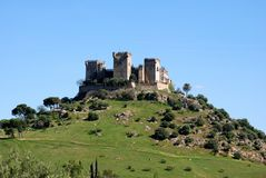 Castle, Almodovar del Rio, Spain. View of the Castle on top of the hill, Almodovar del Rio, near Cordoba, Cordoba Province, Andalusia, Spain, Western Europe Royalty Free Stock Photos