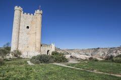 Castle of Almohad origin of the century XII, take in Alcala of t. Alcala del Jucar, Spain - October 29, 2016: Castle of Almohad origin of the century XII, take stock image