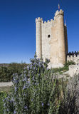 Castle of Almohad origin of the century XII, take in Alcala of t. Alcala del Jucar, Spain - October 29, 2016: Castle of Almohad origin of the century XII, take stock photography