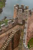 Almourol Templar castle, located in an islet in the Tagus tiver, central Portugal stock image