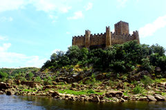 Castle of Almourol at Portugal Stock Photos