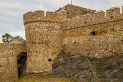 Castle Almuñecar σε Almuñecar, Γρανάδα στοκ εικόνα
