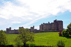 Castle, Alnwick, England. Medieval castle in  Alnwick, England Stock Images