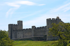 Castle, Alnwick, England. Medieval castle in  Alnwick, England Royalty Free Stock Images
