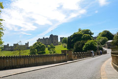 Castle, Alnwick, England. Medieval castle in  Alnwick, England Stock Photography