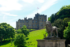 Castle, Alnwick, England. Medieval castle in  Alnwick, England Royalty Free Stock Photo