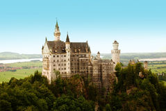 Castle in the Alps. Neuschwanstein Castle in the Alps Royalty Free Stock Photo