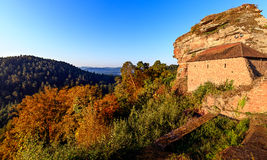 Castle Altdahn in the palatinate forest Stock Images