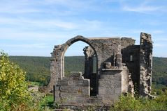 Castle altenstein ruin Royalty Free Stock Photos