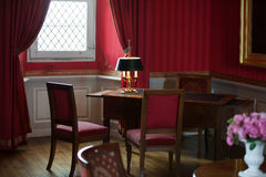 The castle Amboise. In style kept rooms in the castle Amboise Stock Images