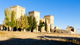 Castle of Ampudia Stock Photos