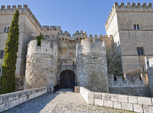 Castle in ampudia. Entry of the castle in ampudia province of palencia, Spain Royalty Free Stock Photos