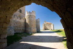Castle of Ampudia, Palencia Stock Photos